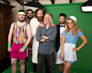 Catch Alan photographing the crew from FYI's Epic Meal Empire for their calendar.
